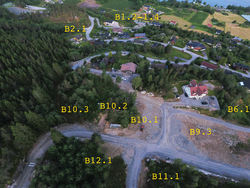 Drone, øvste og nedste del (Halset)