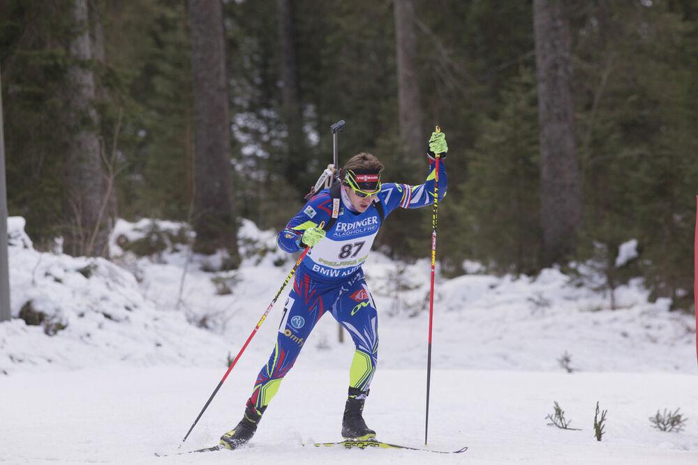 17.12.2015, Pokljuka, Slovenia (SLO):Florent Claude (FRA) -  IBU world cup biathlon, sprint men, Pokljuka (SLO). www.nordicfocus.com. © Manzoni/NordicFocus. Every downloaded picture is fee-liable.