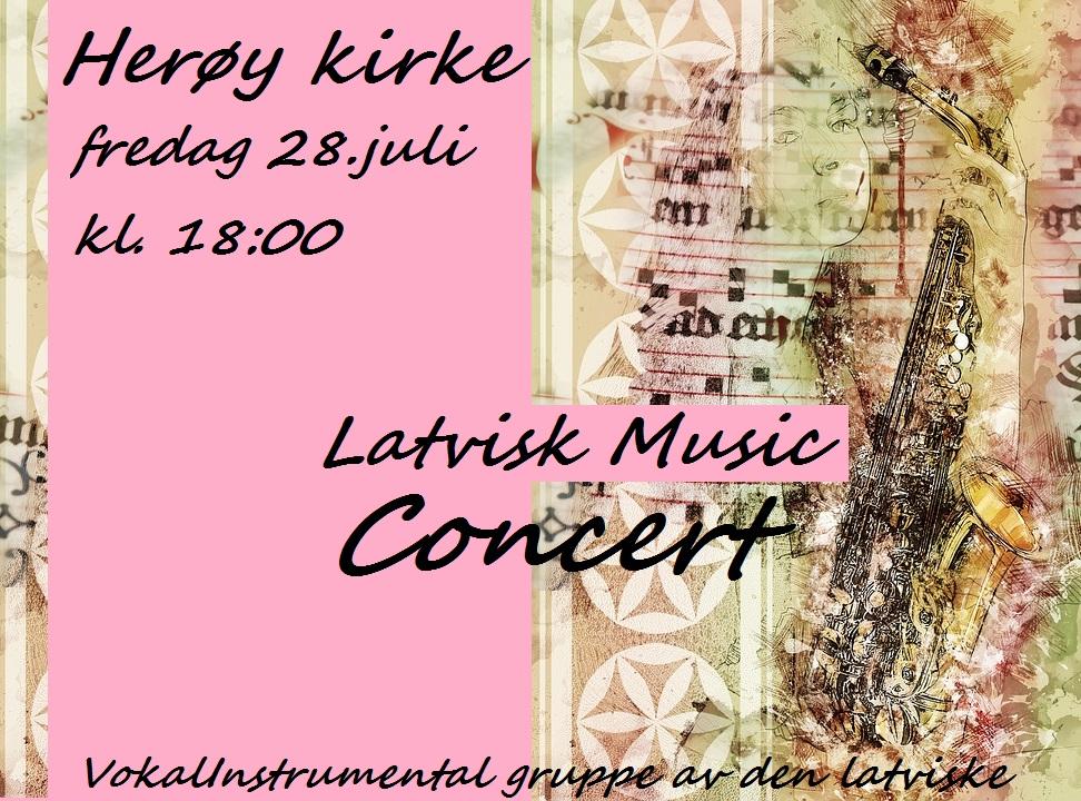 Latvisk konsert_plakat