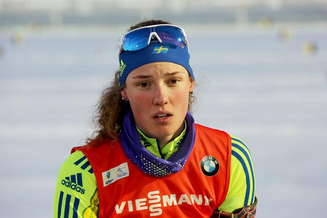 HANNA ÖBERG har anledning att se gladare ut. Efter ett par tävlingar utan att lyckas slog hon till i finalen i Blinkfestivalen i Norge och slutade tvåa i ett tufft startfält. Foto/rights: KJELL-ERIK KRISTIANSEN/sweski.com
