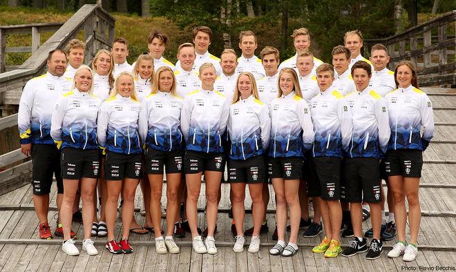 DEN SVENSKA VM-TRUPPEN som dominerade på hemmaplan i Sollefteå förra året. Nu väntar snart årets världscup. Foto: SKIDFÖRBUNDET/Flavio Becchis