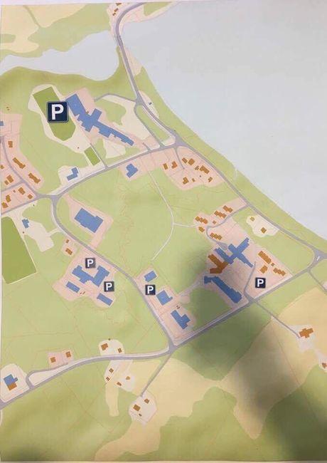 P-plasser sentrum