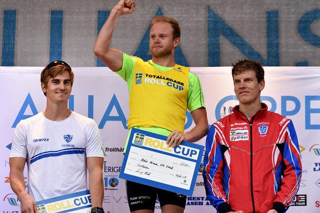ROBIN NORUM (mitten) vann STS Roll cup till slut före Victor Gustafsson (vänster) och Tom Fahlén. Alla foton: ROLF ZETTERBERG