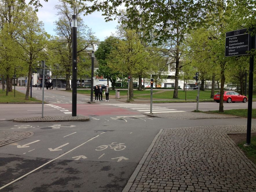 Separert gang- og sykkelvei i Gøteborg