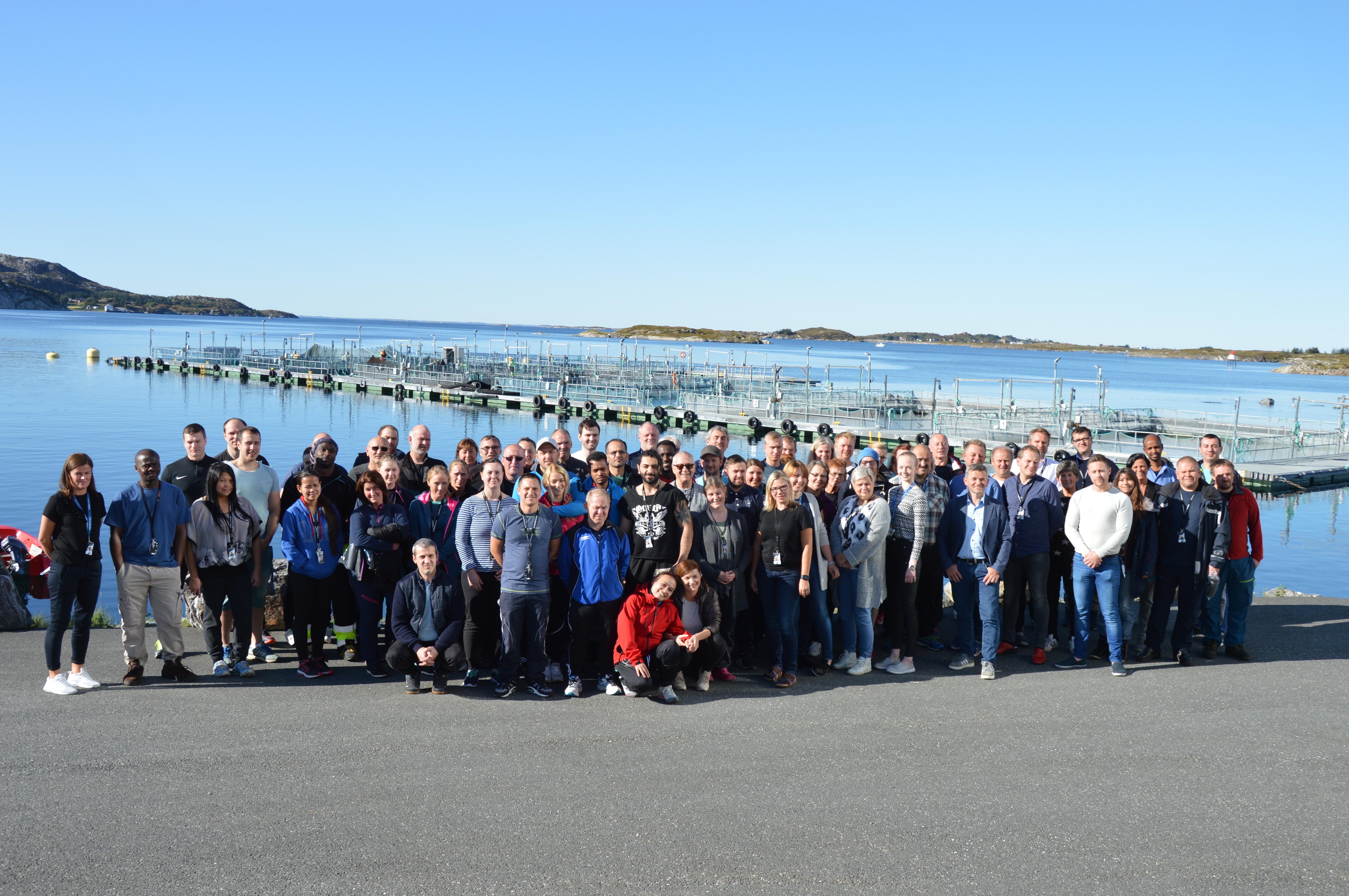 Åtte år uten fraværsskader ved Marine Harvest_alle