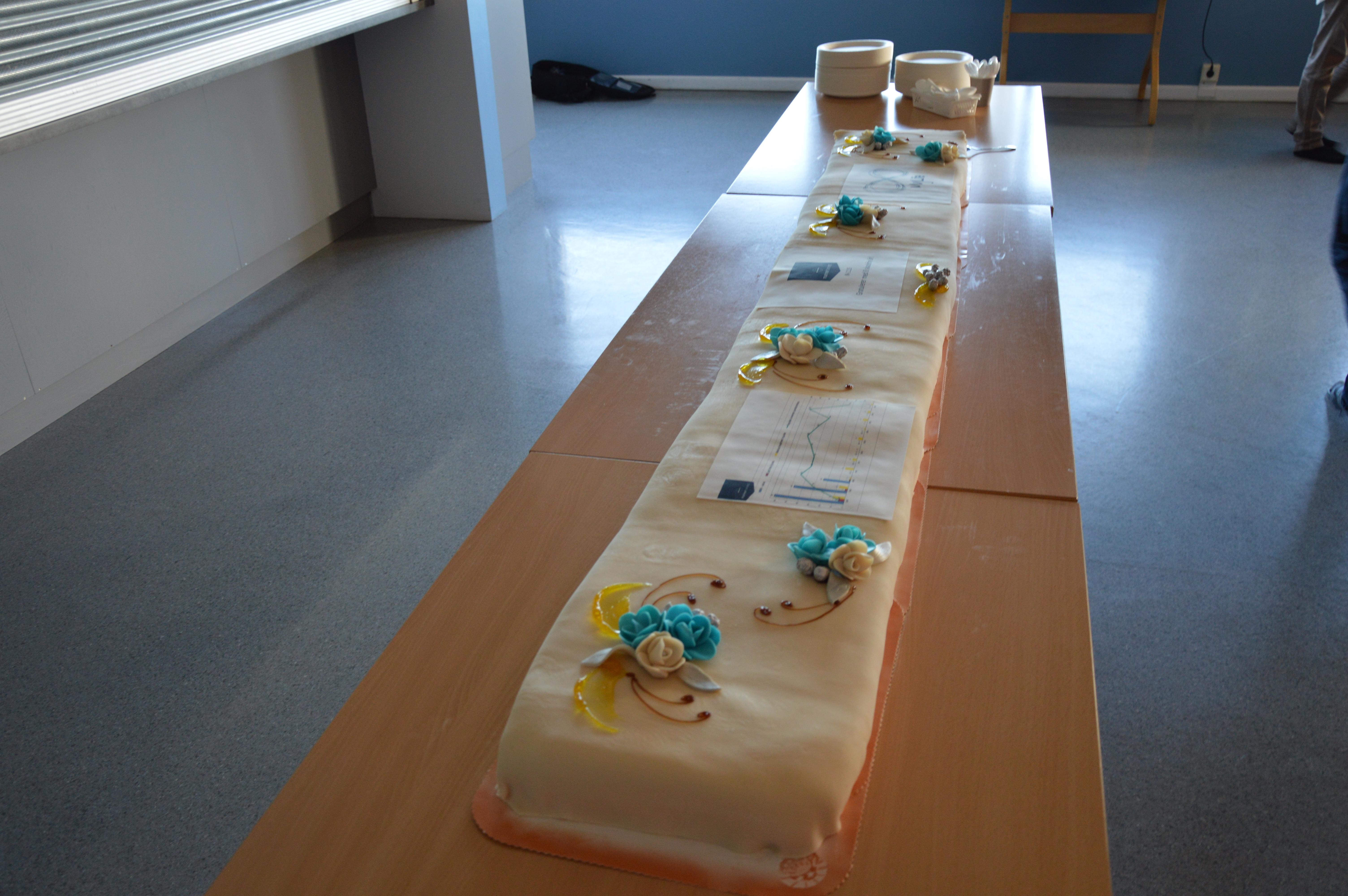 Åtte år uten fraværsskader ved Marine Harvest_kake2