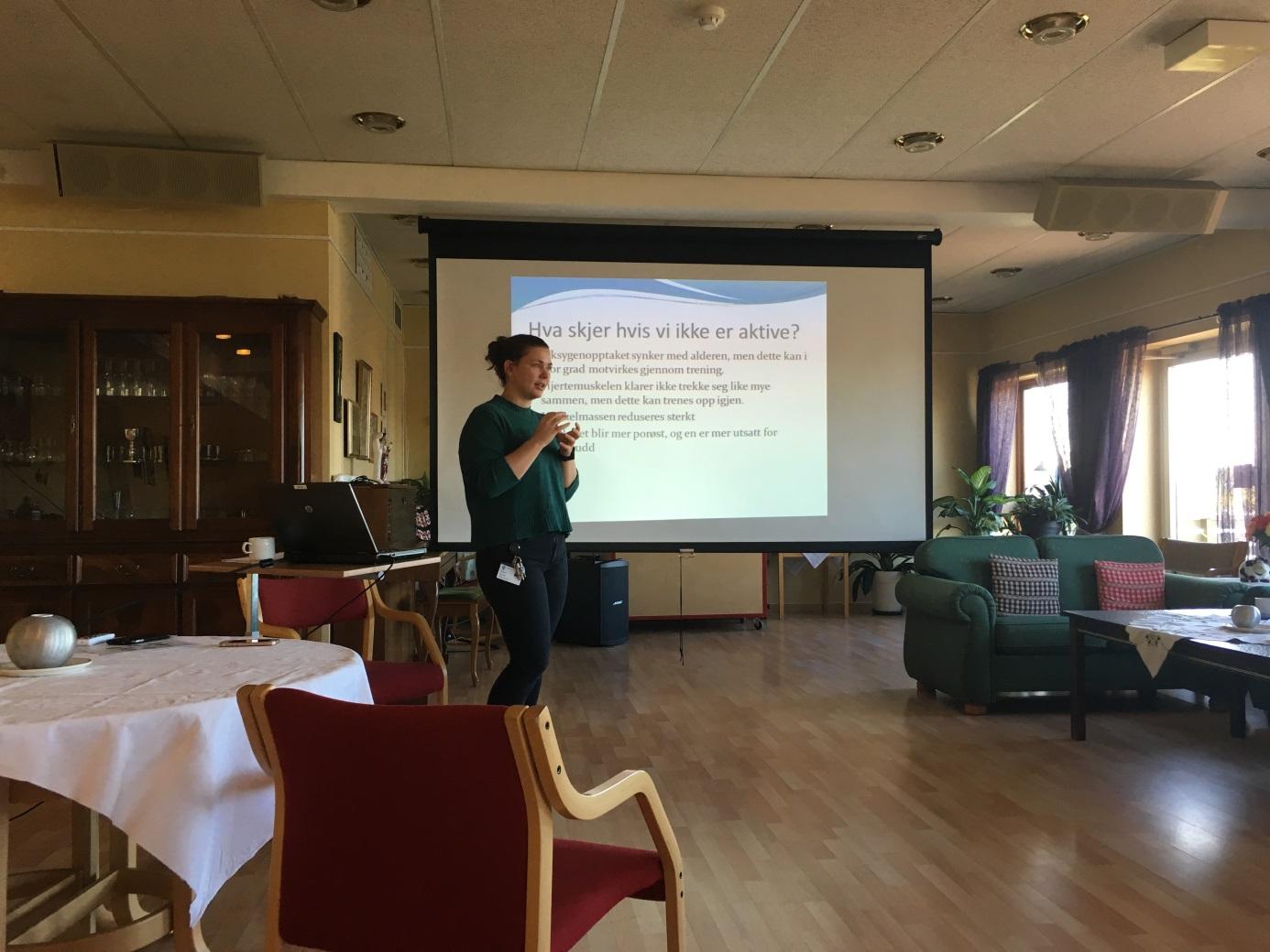 Aktivitet og kosthold for pensjonister_foredrag av Mari