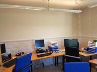 Arbeidsrommet har fått malingsstrøk