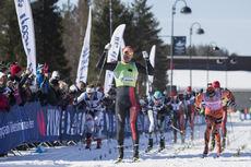 08.04.2017, Levi, Finland (FIN):Simen Oestensen (NOR), Andreas Nygaard (NOR), Oskar Kardin (SWE), Stian Hoelgaard (NOR), Oeystein Pettersen (NOR), (l-r) - Visma Ski Classics Yllaes-Levi, Levi (FIN). www.nordicfocus.com. © Manzoni/NordicFocus. Every down