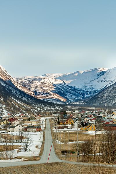 Kåfjorddalen om vinteren