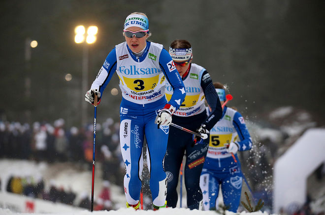JONNA SUNDLING, IFK Umeå blev bästa svenska åkare i Skandinaviska cupen med en 3:e plats totalt efter tvillingarna Tiril och Lotta Udnes Weng från Norge. Foto/rights: MARCELA HAVLOVA/KEK-stock