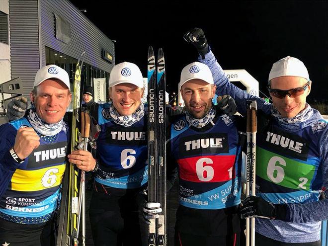 GAMLA STJÄRNOR blir som nya… Berners-Volkswagen vann företagsracet som inledde Östersunds Vinterfestival i helgen, fr v: Fredrik Myhr, Mattias Jonasson, Mats Larsson och Peter Larsson.