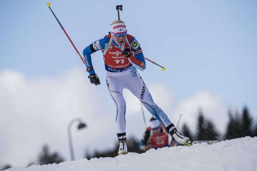 18.03.2017, Oslo, Norway (NOR):Kaisa Makarainen (FIN) -  IBU world cup biathlon, pursuit women, Oslo (NOR). www.nordicfocus.com. © Manzoni/NordicFocus. Every downloaded picture is fee-liable.