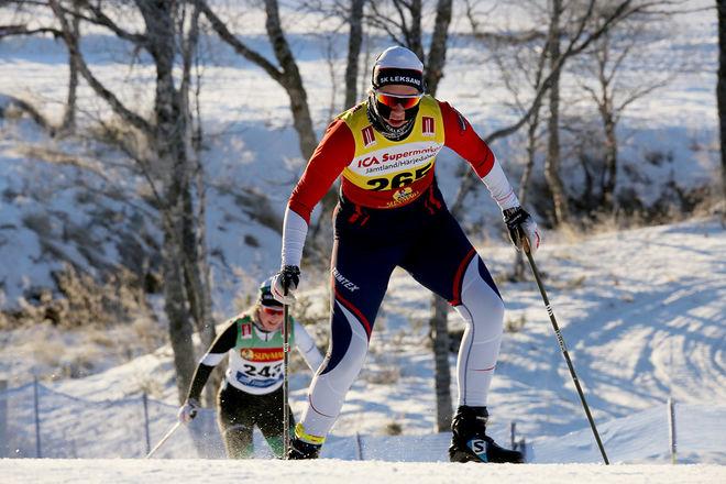 SOFIA OSKARSSON, SK Leksand på väg mot säsongens första seger i Bruksvallsloppet. Foto/rights: KJELL-ERIK KRISTIANSEN/KEK-photo