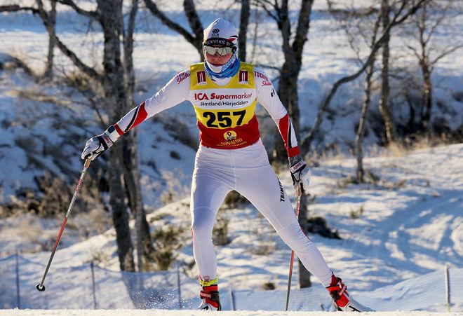 ALICIA PERSSON, Stockvik var stark tvåa i damjuniorklassen. Hon blev endast slagen med 0,4 sekunder av Leksands Sofie Oskarsson. Foto/rights: KJELL-ERIK KRISTIANSEN/KEK-photo
