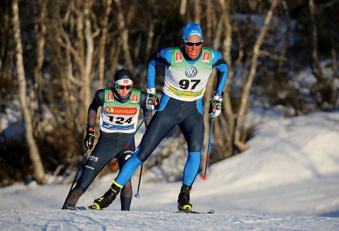 CHRIS ANDRÉ JESPERSEN vann enkelt i Bruksvallsloppet. Men han är ingen vem som helst - norsk OS-åkare från Sochi 2014. Foto/rights: KJELL-ERIK KRISTIANSEN/KEK-photo