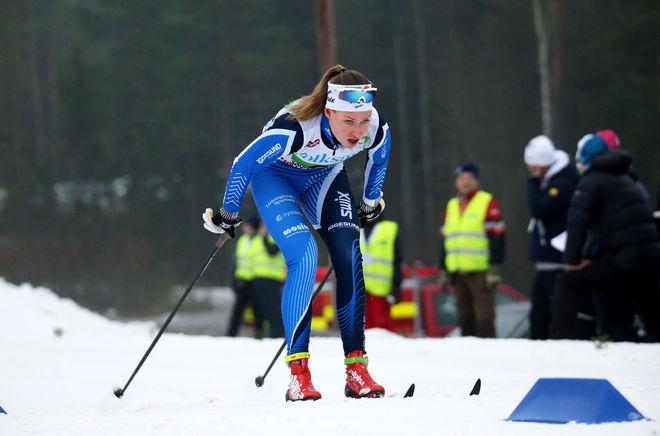 EMMA THALIN, Hudiksvalls IF gick från en 43:e plats i lördags - mer än 6 minuter efter - till en 2:a plats i Bruksvallsloppets sprinttävling. Foto/rights: MARCELA HAVLOVA/KEK-photo