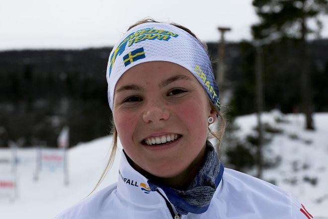 JOHANNA HAGSTRÖM tog sin första seger för nya klubben Ulricehamns IF. Förra säsongen kantades säsongsinledningen av sjukdomar, nu är hon där hon skall vara. Foto/rights: KJELL-ERIK KRISTIANSEN/KEK-photo
