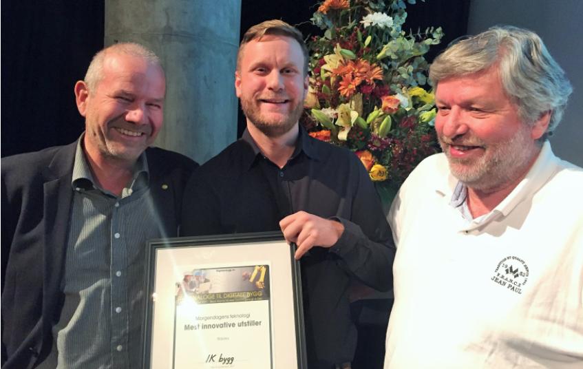 Fra venstre: Dr. Ing Fredrik Horjen, Bernt Øvern, og Harald Andersen (også omtalt som hjernen bak ikbygg.no)