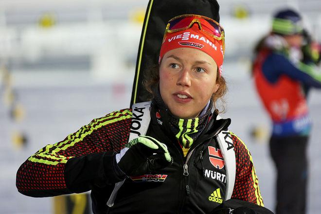 VM-DROTTNINGEN Laura Dahlmeier från Tyskland är en av många världsstjärnor som säsongsdebuterar i helgen i dom TV-sända tävlingarna i Sjusjøen utanför Lillehammer. Foto/rights: KJELL-ERIK KRISTIANSEN/KEK-photo