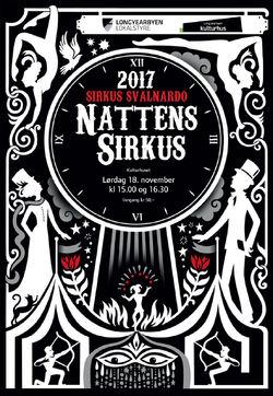 Sirkus Svalnardo 2017 Plakat Nattens Sirkus