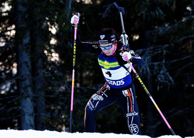 """""""BETTAN"""" HÖGBERG övertygade i damernas uttagning och bör vara klara för världscupen på hemmaplan i Östersund. Foto: HÅKAN BLIDBERG"""