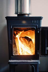Bilde ovn med ild
