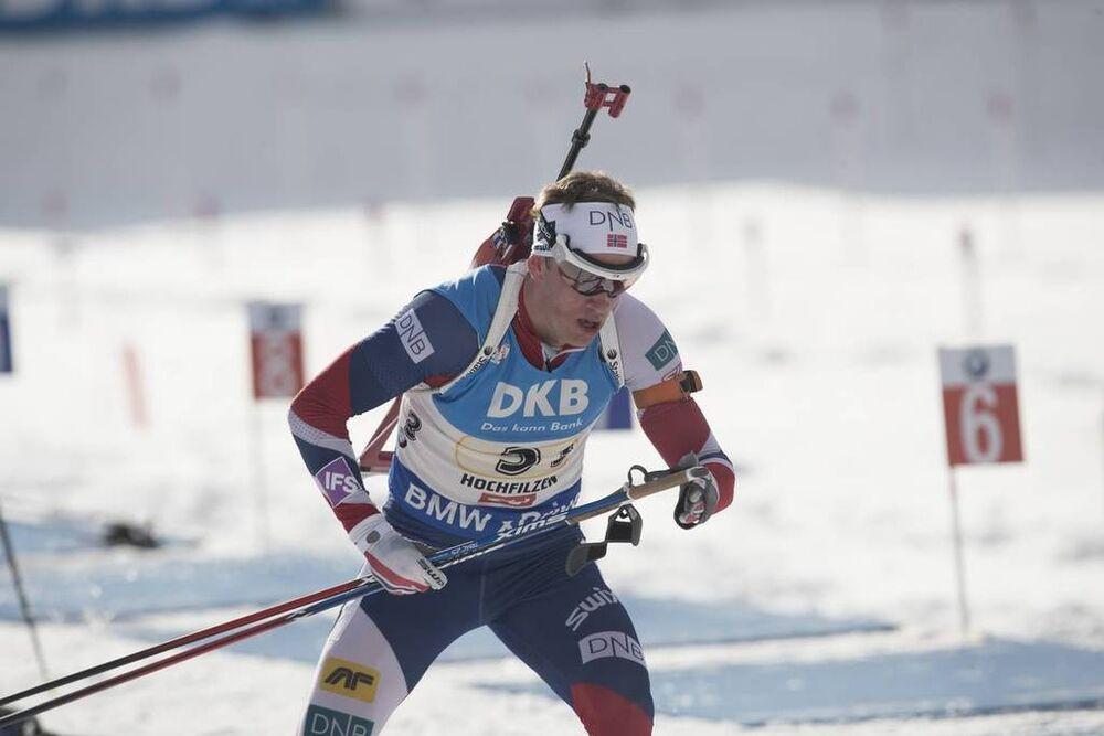 18.02.2017, Hochfilzen, Austria (AUT):Tarjei Boe (NOR) - IBU world championships biathlon, relay men, Hochfilzen (AUT). www.nordicfocus.com. © NordicFocus. Every downloaded picture is fee-liable.