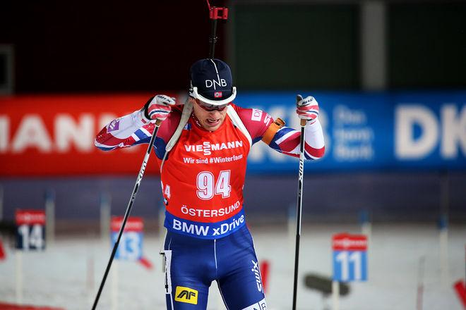 TARJEI BØ gav allt och vann sprinten i Östersund med 0,7 sekunder före Martin Fourcade. Foto/rights: MARCELA HAVLOVA/KEK-stock