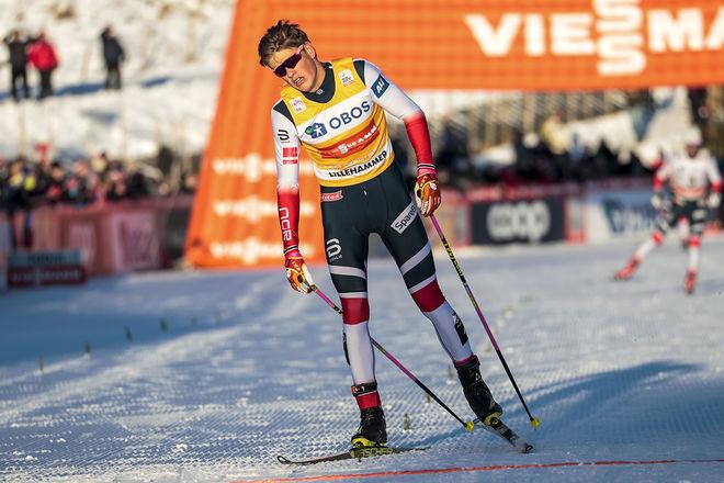 JOHANNES HØSFLOT KLÆBO kör i Toblach kommande helg men står över Tour de Ski och tränar över jul och nyår. Foto: NORDIC FOCUS