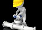 Arbeid på vannledning illustrasjonstegning