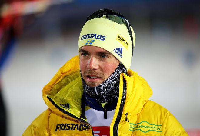 FREDRIK LINDSTRÖM föll från tredje till fjärde plats i jaktstarten vid världscupfinalen i ryska Tyumen. Foto/rights: KJELL-ERIK KRISTIANSEN/KEK-stock
