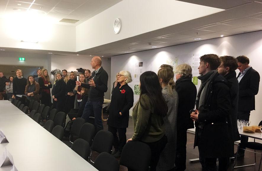Ordfører Ola Nordal på åpningen av Fremtidens Ås i Ås kulturhus
