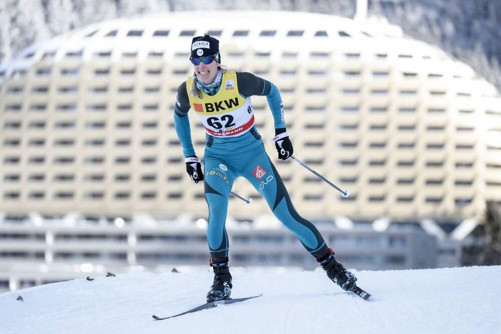 09.12.2017, Davos, Switzerland (SUI):Aurore Jean (FRA) - FIS world cup cross-country, individual sprint, Davos (SUI). www.nordicfocus.com. © Modica/NordicFocus. Every downloaded picture is fee-liable.