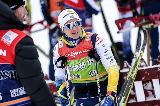 ANNA HAAG fick äntligen ett rejält kvitto på att formen är bra. Hennes 5:e plats på 10 km klassisk stil var den hittil bästa svenska insatsen i årets Tour de Ski. Foto: NORDIC FOCUS