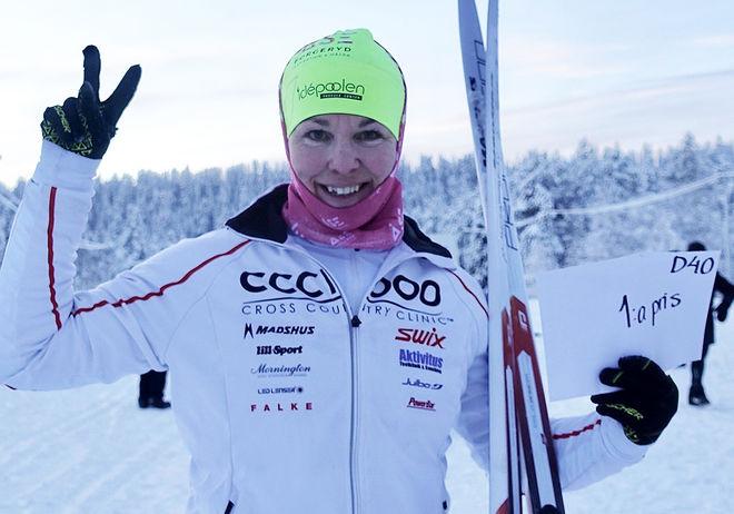 ÅSE BORGERYD var snabbaste dam i Arvidsjaur under lördagen. Foto: IFK ARVIDSJAUR SKIDOR