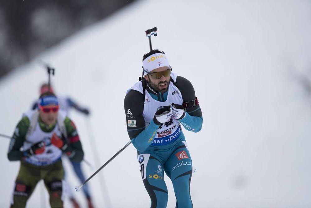 08.12.2017, Hochfilzen, Austria (AUT):Simon Fourcade (FRA) -  IBU world cup biathlon, sprint men, Hochfilzen (AUT). www.nordicfocus.com. © Manzoni/NordicFocus. Every downloaded picture is fee-liable.