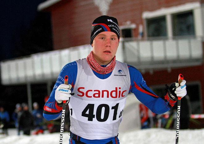 ANTON ERIKSSON, Sollefteå Skidor vann kvalet i H17-18 och blev 4:a till slut. Foto: THORD ERIC NILSSON