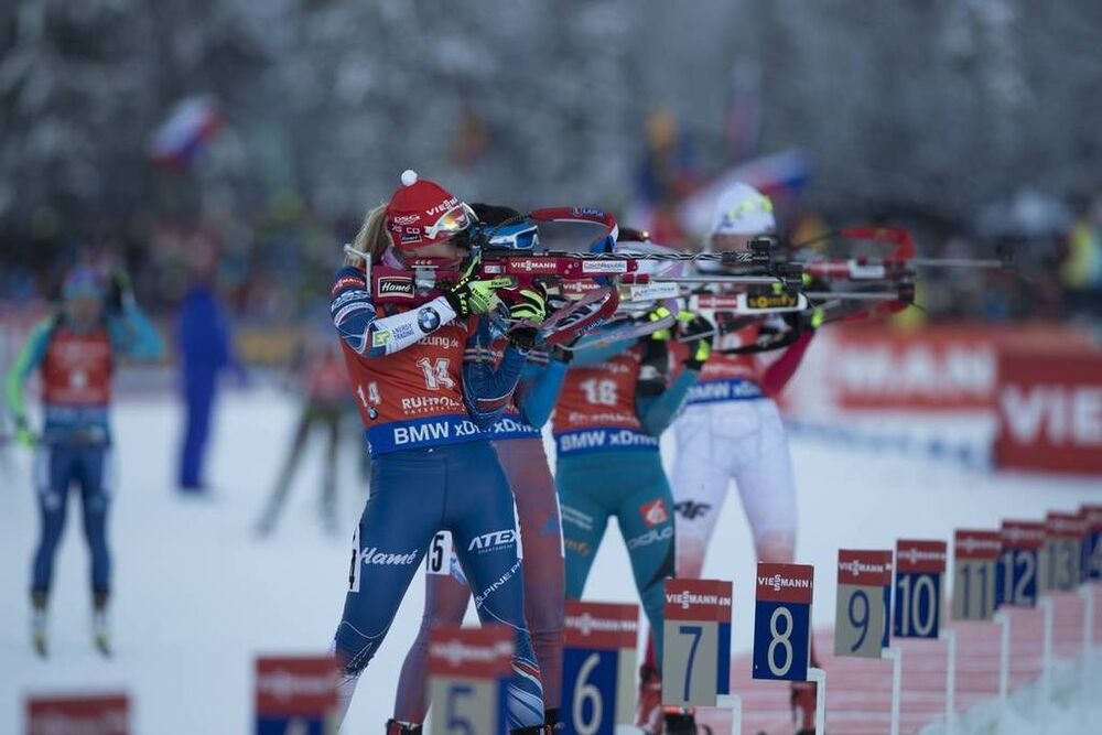 15.01.2017, Ruhpolding, Germany (GER):Eva Puskarcikova (CZE) -  IBU world cup biathlon, pursuit women, Ruhpolding (GER). www.nordicfocus.com. © Manzoni/NordicFocus. Every downloaded picture is fee-liable.