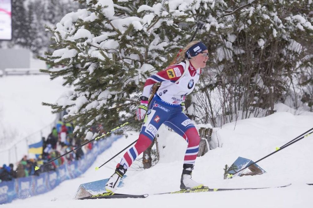 10.12.2017, Hochfilzen, Austria (AUT):Hilde Fenne (NOR ) -  IBU world cup biathlon, relay women, Hochfilzen (AUT). www.nordicfocus.com. © Manzoni/NordicFocus. Every downloaded picture is fee-liable.