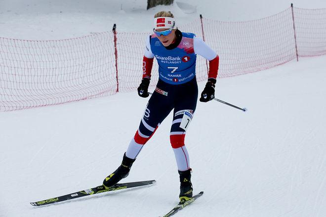 LOVISE HEIMDAL är en av åkarna i det norska U23-VM-laget. Här från fredagens 10 km i norska mästerskapen i Gåsbu. Foto/rights: MARCELA HAVLOVA/KEK-stock