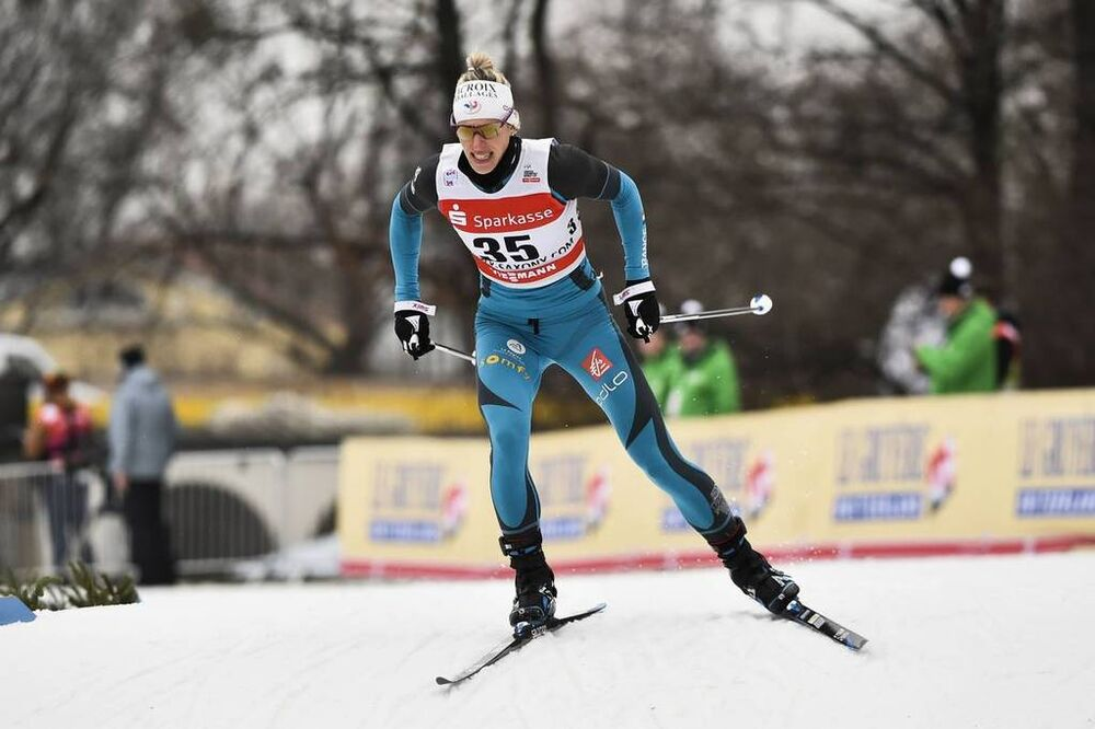 13.01.2018, Dresden, Germany (GER):Aurore Jean (FRA) - FIS world cup cross-country, individual sprint, Dresden (GER). www.nordicfocus.com. © Thibaut/NordicFocus. Every downloaded picture is fee-liable.