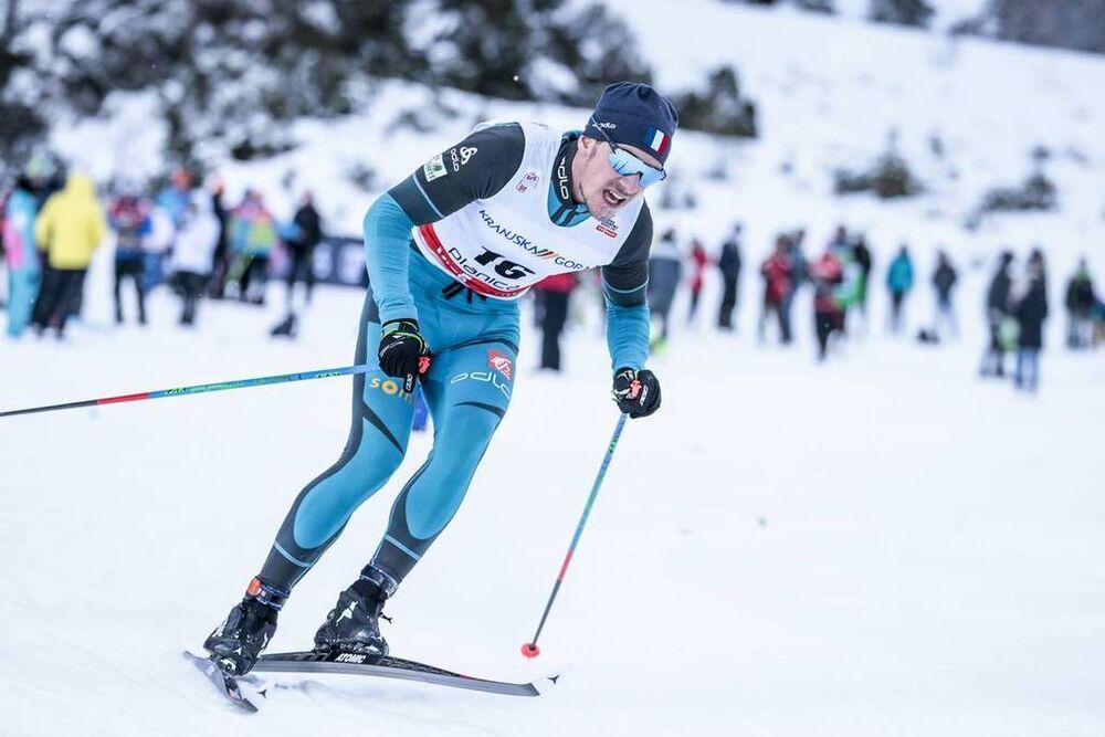 21.01.2018, Planica, Slovenia (SLO):Valentin Chauvin (FRA) - FIS world cup cross-country, 15km men, Planica (SLO). www.nordicfocus.com. © Modica/NordicFocus. Every downloaded picture is fee-liable.
