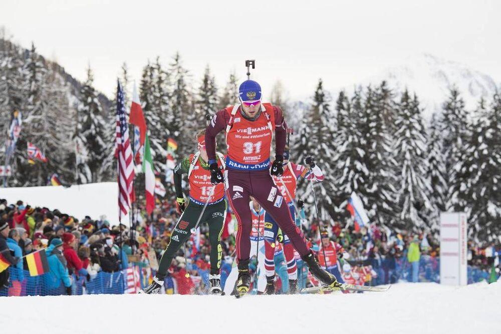 20.01.2018, Antholz, Italy (ITA):Maxim Tsvetkov (RUS) -  IBU world cup biathlon, pursuit men, Antholz (ITA). www.nordicfocus.com. © Manzoni/NordicFocus. Every downloaded picture is fee-liable.