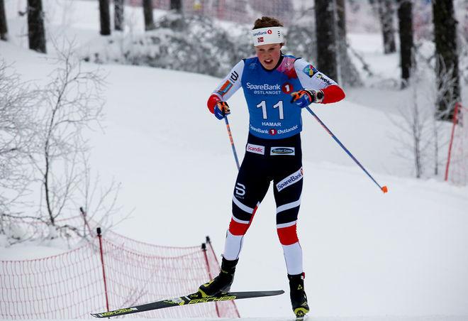 KARI ØYRE SLIND fick den sista platsen i det norska damlaget till OS i Pyeongchang. Därmed måste syrran Silje stanna hemma. Foto/rights: MARCELA HAVLOVA/KEK-stock