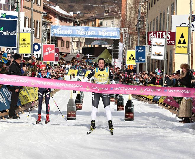 BRITTA JOHANSSON NORGREN kunde äntligen slå Katerina Smutna i en sprint. Foto: NEWSPOWER.IT