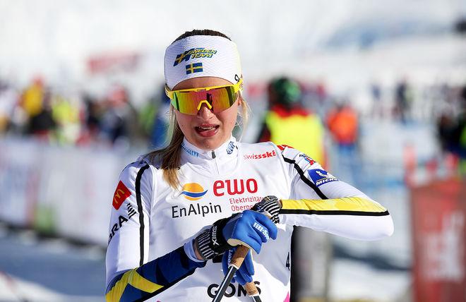 FRIDA KARLSSON, Sollefteå Skidor vann JVM i vintras. Vi föreslog att hon redan nu skulle upp i seniorlandslaget trots ytterligare ett år som junior. Men Frida är en av 24 åkare i utvecklingslandslaget. Foto/rights: KJELL-ERIK KRISTIANSEN/KEK-stock