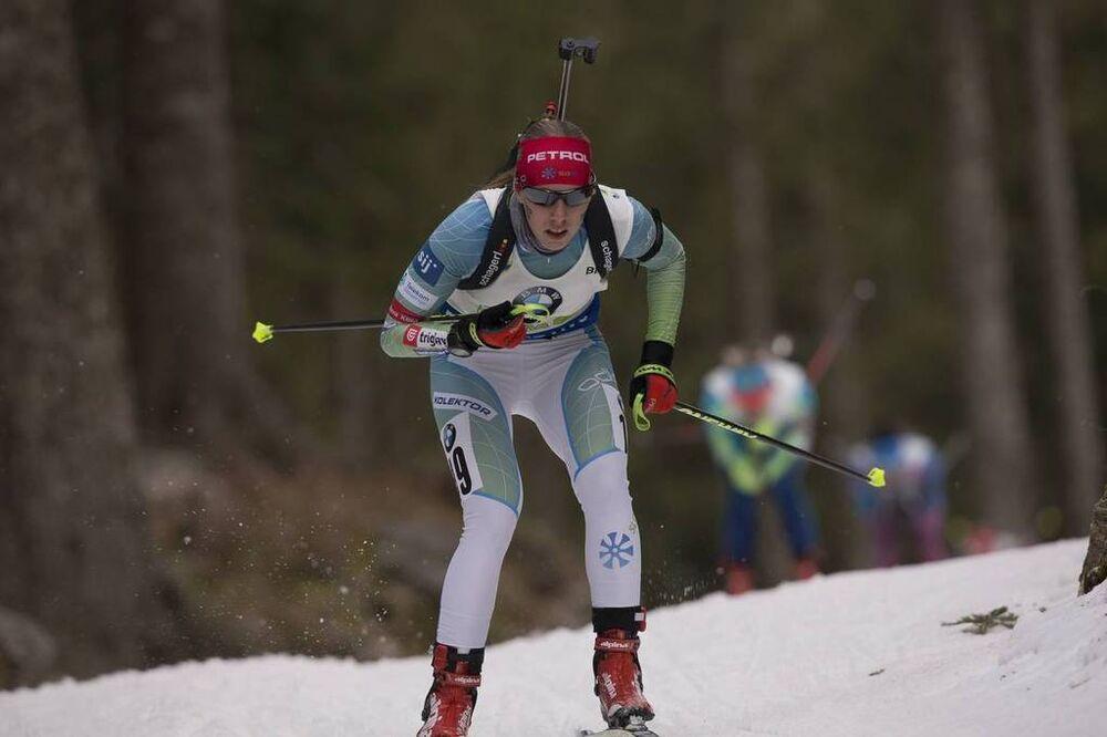 11.12.2016, Pokljuka, Slovenia (SLO):Anja Erzen (SLO) -  IBU world cup biathlon, relay women, Pokljuka (SLO). www.nordicfocus.com. © Manzoni/NordicFocus. Every downloaded picture is fee-liable.