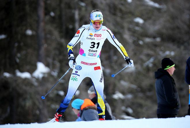ALICIA PERSSON gjorde en senstionell tredjesträckan för Sverige och bäddade tillsammans med Frida Karlsson för den överraskande medaljen. Foto/rights: KJELL-ERIK KRISTIANSEN/KEK-stock