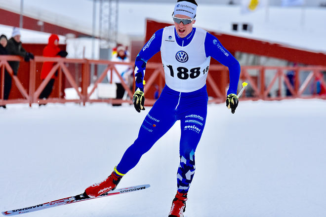 ANTON LINDBLAD höll distansen bäst och vann till slut ganska komfortabelt i Ulricehamn. Foto: ROLF ZETTERBERG